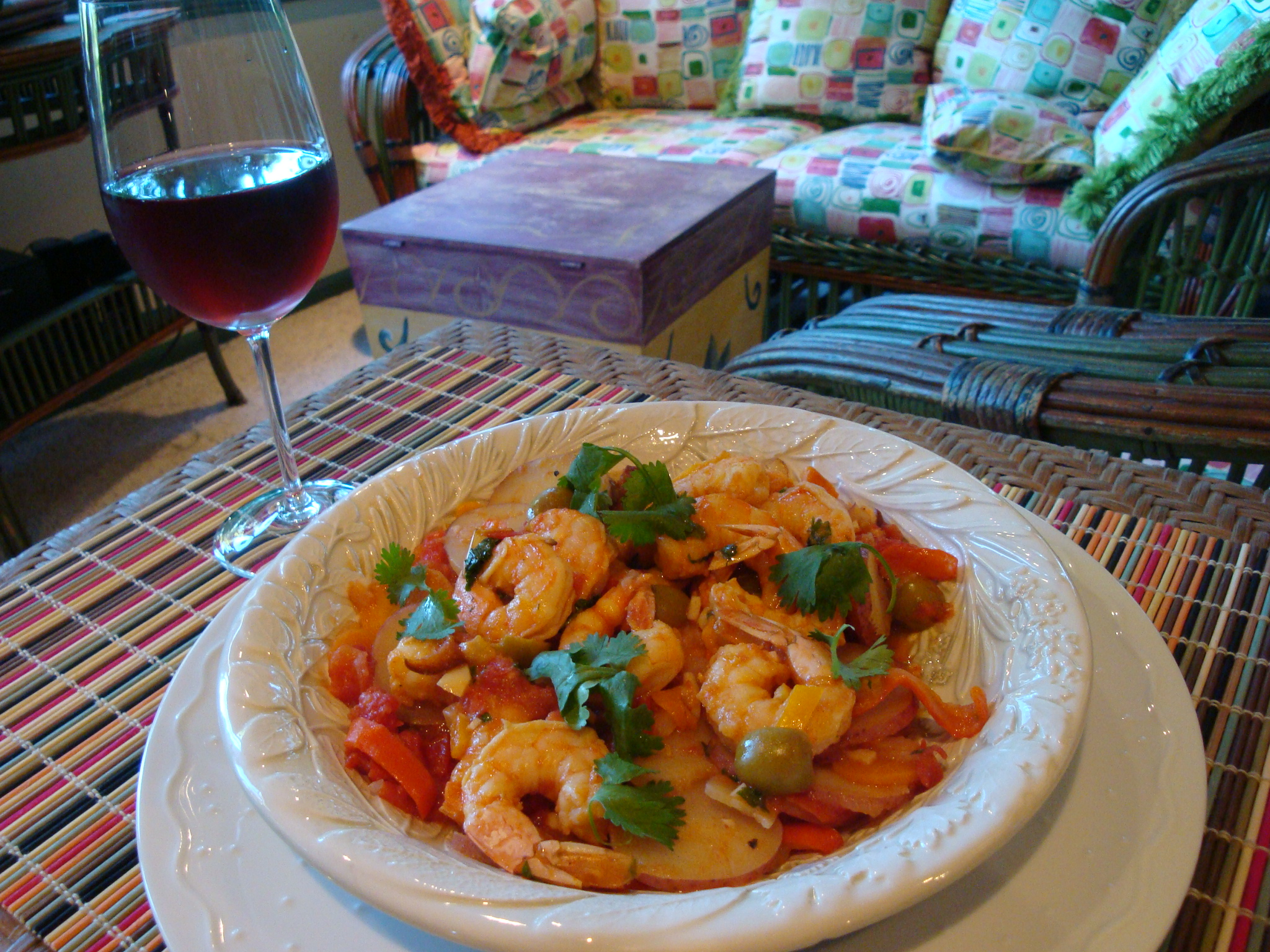 Shrimp Tagine with Vegetables and Preserved Lemon Sweet  Savory