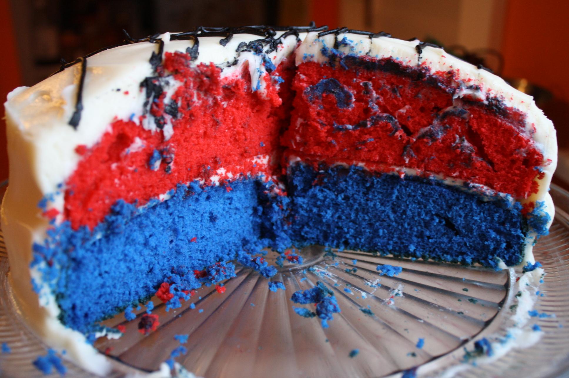 blue velvet cake Sweet Savory Kitchens