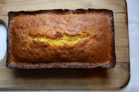 Corn Meal Pound Cake with Orange and Dried Cranberries - Sweet and Savory Kitchens
