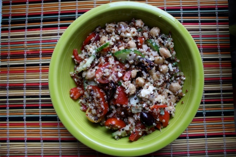 Greek Quinoa Salad - Sweet and Savory Kitchens