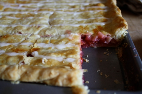 Sour cherry slab pie - Sweet & Savory Kitchens