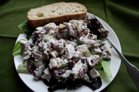 Chicken salad with cranberries, walnuts and tarragon - Sweet & Savory Kitchens