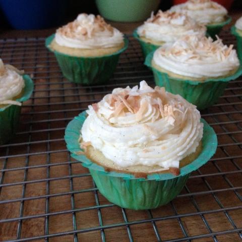 Coconut Vanilla Bean Cupcakes - Sweet and Savory Kitchens