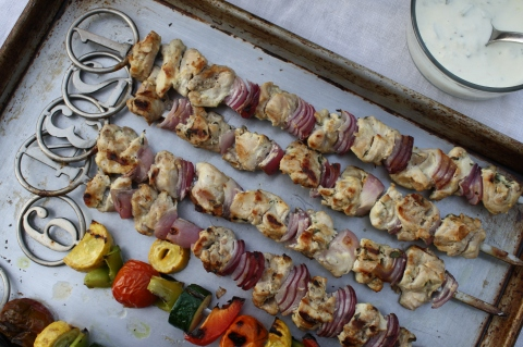 Greek Chicken Kebabs - Sweet and Savory Kitchens