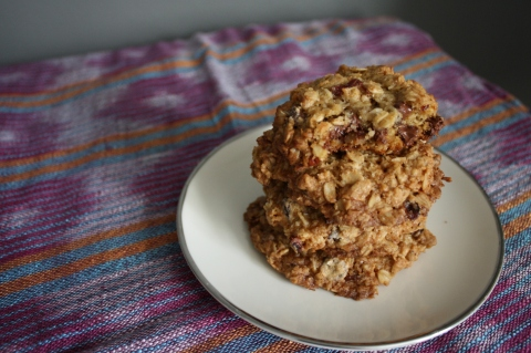 Oatmeal, Coconut and Chocolate Chip Cookies - Sweet & Savory Kitchens