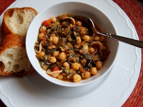 Chickpea and Swiss Chard Soup